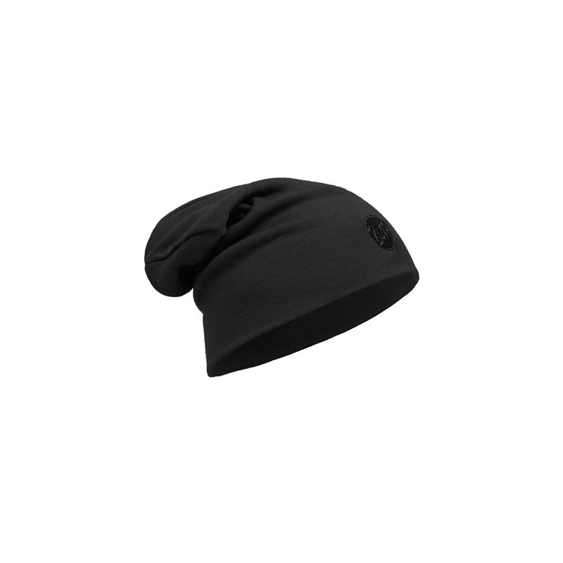 Bild BUFF Heavyweight Merino Wool Hat Loose_Solid Black_UVP 32.95 EUR_111170.999.10.00.jpg